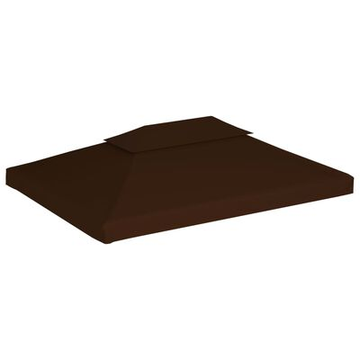 vidaXL 2-Tier Gazebo Top Cover 310 g/m² 4x3 m Brown