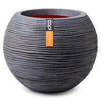 Capi Vase Nature Rib Ball 40x32 cm Dark Grey