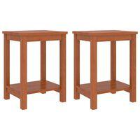 vidaXL Bedside Cabinets 2 pcs Honey Brown 35x30x47 cm Solid Pinewood