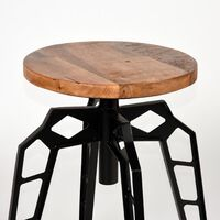 LABEL51 Stool Pebble 35x52cm Black