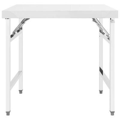 vidaXL Kitchen Folding Work Table 85x60x80 cm Stainless Steel