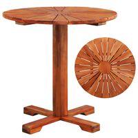 vidaXL Bistro Table 70x70 cm Solid Acacia Wood