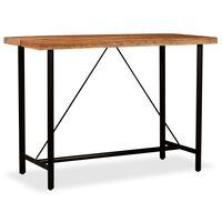 vidaXL Bar Table Solid Acacia Wood 150x70x107 cm