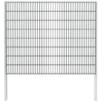 vidaXL 2D Gabion Fence Galvanised Steel 2.008x1.63 m 2 m (Total Length) Grey