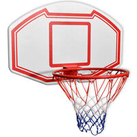 vidaXL Three Piece Wall Mounted Basketball Backboard Set 90x60 cm