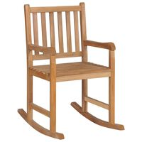 vidaXL Rocking Chair Solid Teak Wood