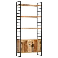 vidaXL 4-Tier Bookcase 80x30x180 cm Rough Mango Wood