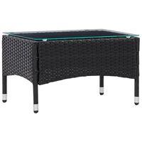 vidaXL Coffee Table Black 60x40x36 cm Poly Rattan