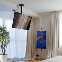 NewStar Flat Screen Ceiling Mount for 10-40 Screen Adjustable 13 cm Black