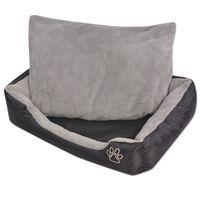 170422 vidaXL Dog Bed with Padded Cushion Size XL Black
