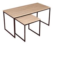 Urban Living 2-piece Coffee Table & Side Table - Industrial Design -