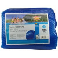 Summer Fun Summer Pool Solar Cover Round 500 cm PE Blue