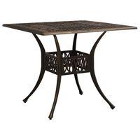 vidaXL Garden Table Bronze 90x90x73 cm Cast Aluminium