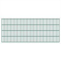 vidaXL 2D Garden Fence Panels 2.008x0.83 m 10 m (Total Length) Green