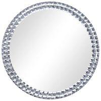 vidaXL Wall Mirror Silver 70 cm Tempered Glass