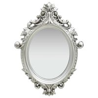 vidaXL Wall Mirror Castle Style 56x76 cm Silver
