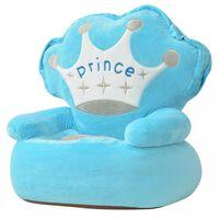 vidaXL Plush Children's Chair Prince Blue