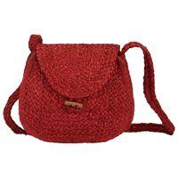 vidaXL Shoulder Bag Red Handmade Jute