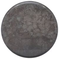 vidaXL Table Top Black Ø40x2.5 cm Marble