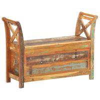 vidaXL Hall Bench 103x33x72 cm Solid Reclaimed Wood