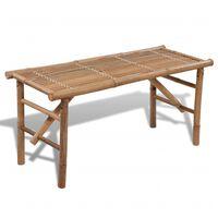 vidaXL Folding Garden Bench 118 cm Bamboo