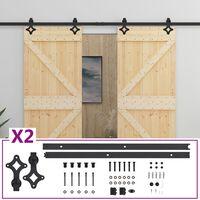 vidaXL Sliding Door with Hardware Set 100x210 cm Solid Pine Wood