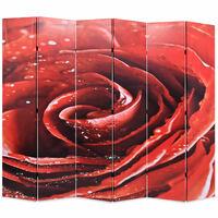 vidaXL Folding Room Divider 228x170 cm Rose Red