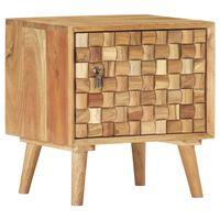 vidaXL Bedside Cabinet 42x35x45 cm Solid Acacia Wood