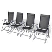 vidaXL Folding Garden Chairs 4 pcs Aluminium