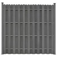 vidaXL Fence Panel with 2 Posts WPC 180x180 cm Grey