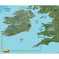 GARMIN BLUECHART G3 HXEU004R  IRISH SEA MICROSD & SD