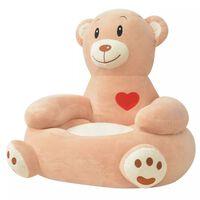 vidaXL Plush Children's Chair Bear Brown