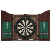 vidaXL Professional Dart Set with Dartboard and Cabinet Sisal Steel