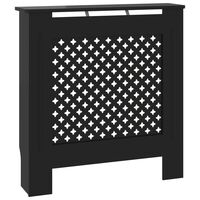 vidaXL MDF Radiator Cover Black 78 cm
