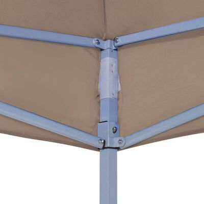 vidaXL Party Tent Roof 6x3 m Taupe 270 g/m²