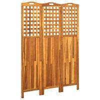 vidaXL 3-Panel Room Divider 121x2x170 cm Solid Acacia Wood