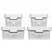 Curver Infinity Storage Box Set 4 pcs with Lid 4.5L+11L White