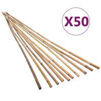 vidaXL Garden Bamboo Stakes 50 pcs 120 cm