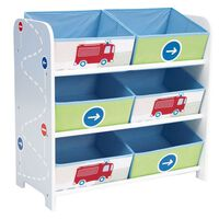 Worlds Apart Storage Rack Trucks and Tractors 60x30x63 cm WORL230008