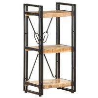 vidaXL 3-Tier Bookcase 40x30x80 cm Solid Mango Wood