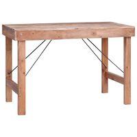 vidaXL Dining Table 120x60x80 cm Solid Reclaimed Wood