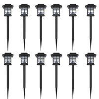 Outdoor Solar Lamp LED Light 12 pcs Spike 8,6 x 8,6 x 38 cm