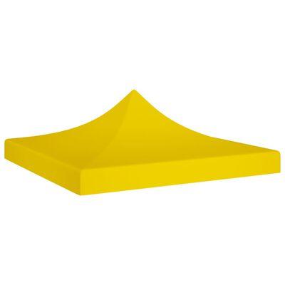 vidaXL Party Tent Roof 2x2 m Yellow 270 g/m²