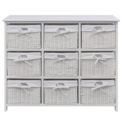 vidaXL Storage Cabinet Akron White