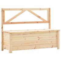 vidaXL Storage Bench 120 cm Solid Pine Wood