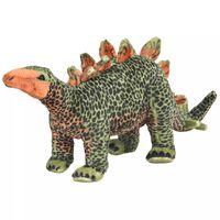 vidaXL Standing Plush Toy Stegosaurus Dinosaur Green and Orange XXL