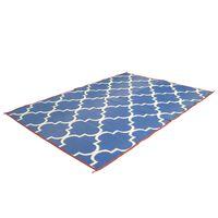 Bo-Camp Outdoor Rug Chill mat Casablanca 2x1.8 m Blue