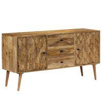 vidaXL Sideboard Solid Mango Wood 145x40x75 cm