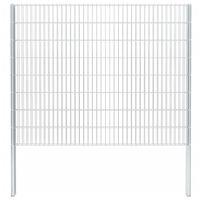 vidaXL 2D Gabion Fence Galvanised Steel 2.008x1.63 m 12 m (Total Length) Silver
