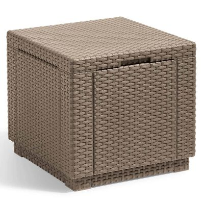 Allibert Cube Storage Pouf Cappuccino 228749
